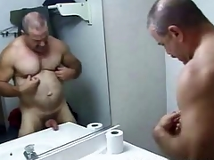 Daddy Stand firm by Bathroom Stroking