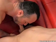 Twink gets sexy BJ with the addition of licks a hot asshole