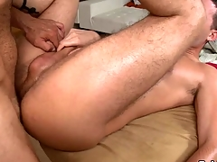Hunk gets earthy anal drilling via massage