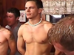 Hot contrive gay sex party with horny hunks