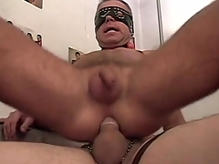 Gay amateurs in masks attempt hot anal sex