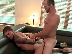 Wet rimmed extensively asshole fucked from behind