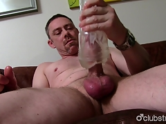 Sexy Open Daddy To the fullest extent Masturbating
