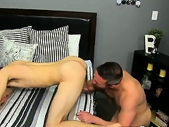 Twinks XXX He gets on his knees coupled with sucks Brock\'s knob befor