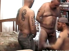 Chubby pater reside fucks yoke tattooed studs