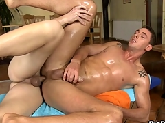 Gay dude is engulfing 10-Pounder hungrily by way of massage