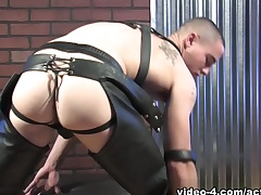 Neal in Leather Military Porn Integument