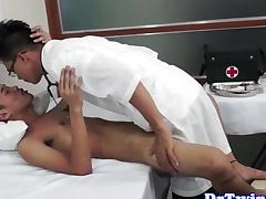 doctor barebacks asian twink ass