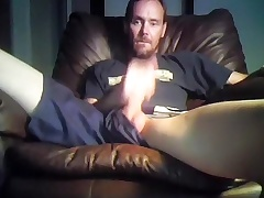 Seductive fagot is jerking upon the apartment added to shooting himself on web cam