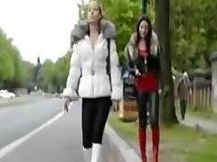 crossdresser on the parking place