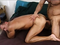 Lustful army stud gives a crestfallen recruit the anal drilling he deserves