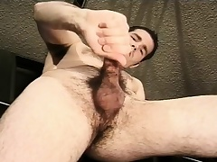 Hot mechanic fingers his aggravation and jacks gone his big dick in the garage