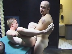 Gay group sex with hot blowjobs plus nasty ass fucking by get under one's four