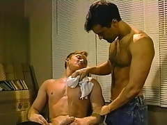 Hot gay barber delivers a astonishing blowjob increased by a constant anal drilling