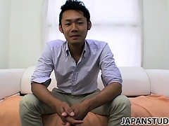 Yuta Kawase gets rid of his clothes and reveals how much he loves to masturbate