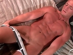 Gorgeous tanned unexcelled kermis strokes dick bit by bit