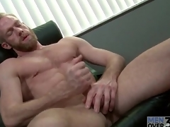 Bearded alms-man in all directions insanely sexy abs jerks off
