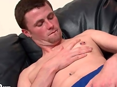 Perforated young non-professional is XXX on touching his soccer clothes