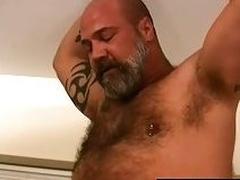 Mature bear fucks cute gay