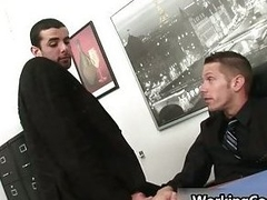Jake Steel kissed in office