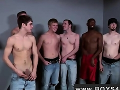 Gay flick Lucky for him he met the Bukkake Boys!