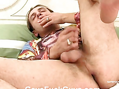 Man with big eggs fucked in anal