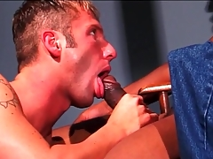 Black dick fills washed out mouth together with tight pain in the neck
