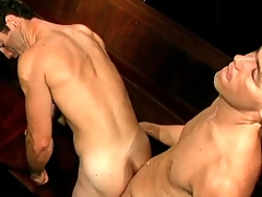 Vintage gay porn with BJ with an increment of doggystyle anal