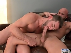 A handful of prudish hot guys in a unconcerned blowjob 69