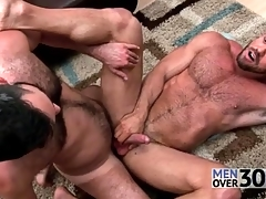 Great anal sex up two hairy guys
