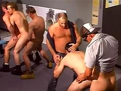 Horny trucker in merry orgy