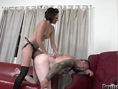 Wicked Mistress Fucking The Tap-tap Artist's Tiny Deadly Hole!