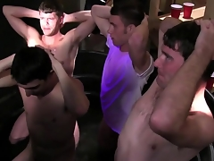 Plainly college students at their initiation tugging cocks