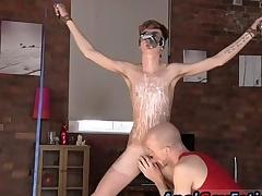 Bondage fisting male free integument gay Twink guy Jacob Daniels is his