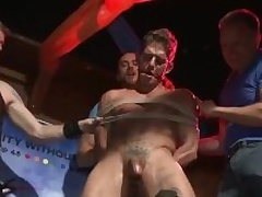 Go-Go Dancer Gets Fucked Apart from Bar Crowd