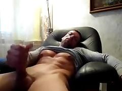 Str8 daddy bludgeon & cum watching porn
