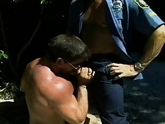 Hunky police officer wants to succeed in his dick sucked at the end of one's tether a naughty superstud