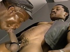 Negro skinned stallions enjoy the taste of each other's dicks and asses