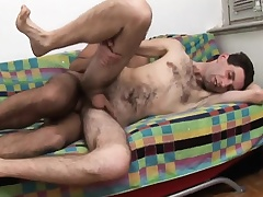 Twink spanks ass plus then gives him head before he gets his ass nailed