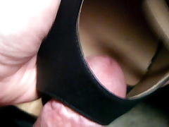 Cumming Black Peep Toe Heels