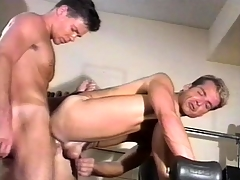 Amiable gym instructor has intense gay sex with his favorite partner