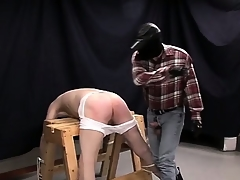 Perfectly vulnerable gay fuck knick-knack gets his ass fishy by an left alone cock