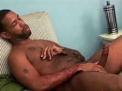 Chunky pitch-black load of shit with narrow stroked lustily