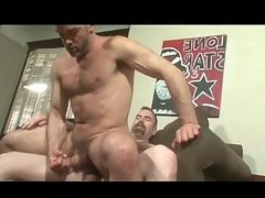 Bears fondle and have blistering anal sexual connection