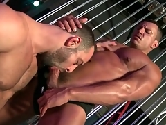 Muscular guys repute to deepthroat BJ blear