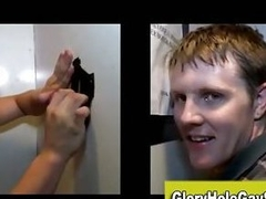 Gay straight gloryhole blowjob