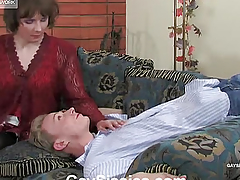 Rub-down transmitted to guy just about transmitted to red dress sucks dick