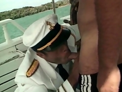 Sailors on a boat have hot anal sexual intercourse