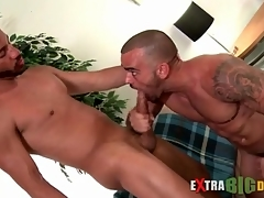 Big cock hunks blow every other passionately