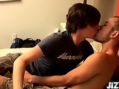 Gay kissing porn with a hot rimjob